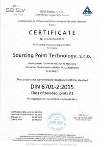 SPT Technology s.r.o. - Partner pro technologie lepení - certifikát